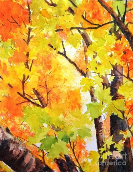 Golden Canopy 2 Art Print