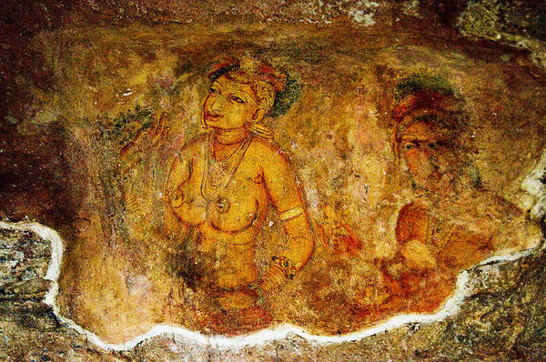 Golden Princess Photograph - Golden Cave Painting In Sigiriya by Jenny Rainbow