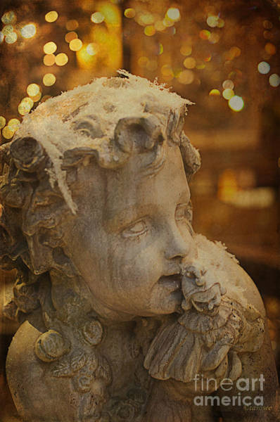 Photograph - Golden Cherub by Terry Rowe