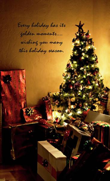 Photograph - Golden Christmas Wish by Lorraine Devon Wilke