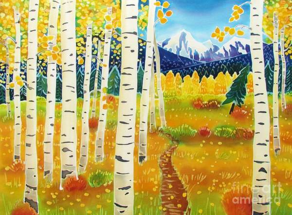 Batik Wall Art - Painting - Golden Colorado Day by Harriet Peck Taylor