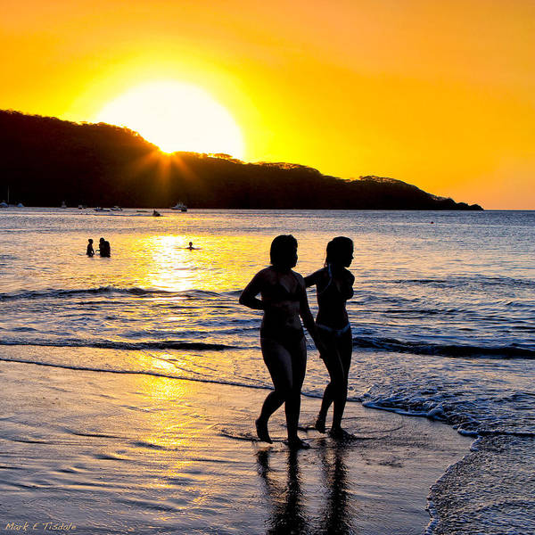 Photograph - Golden Costa Rican Sunset - Tropical Beach by Mark Tisdale