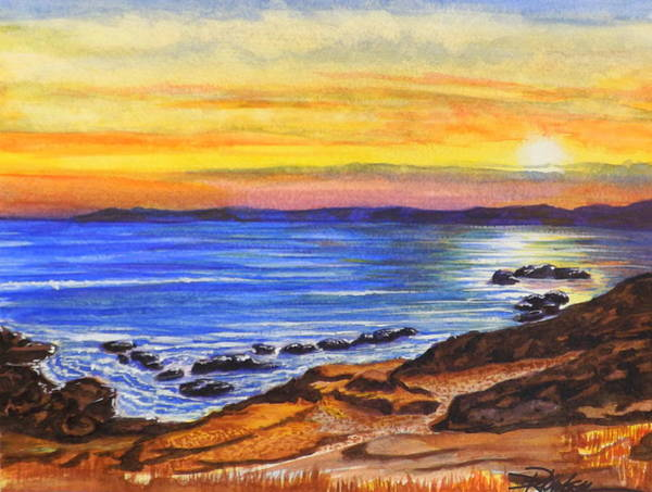 Painting - Golden Cove by Darren Robinson