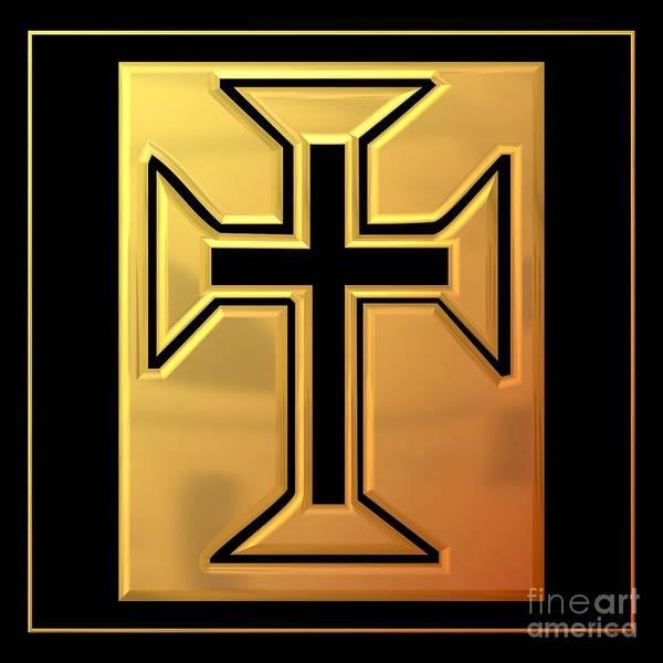 Digital Art - Golden Cross 3 by Rose Santuci-Sofranko