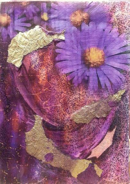 Mixed Media - Golden Daisy by Pam Halliburton