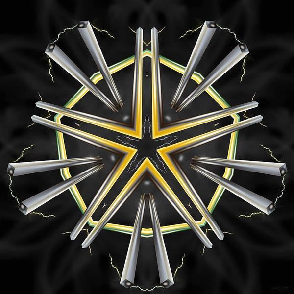 Digital Art - Golden Darkstar by Derek Gedney