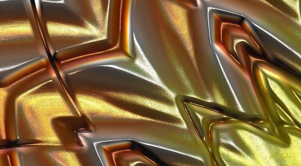 Digital Art - Golden Day Rays Abstrast by Alec Drake