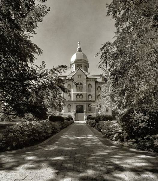 Notre Dame Photograph - Golden Dome At Notre Dame University by Dan Sproul