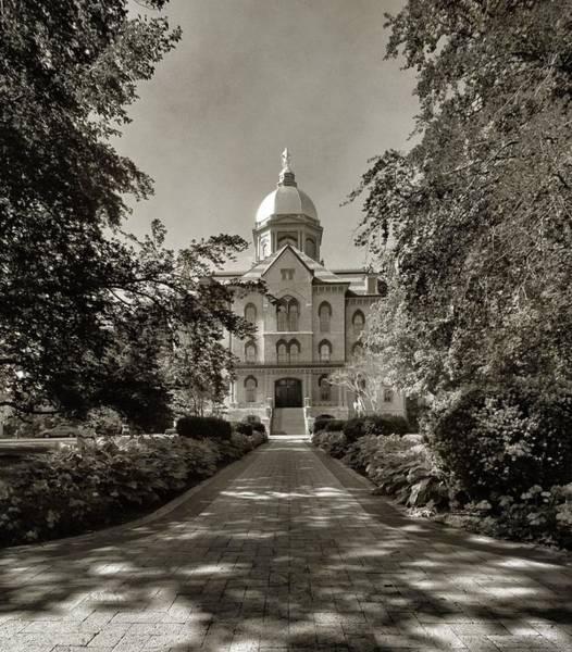 Notre Dame University Photograph - Golden Dome At Notre Dame University by Dan Sproul