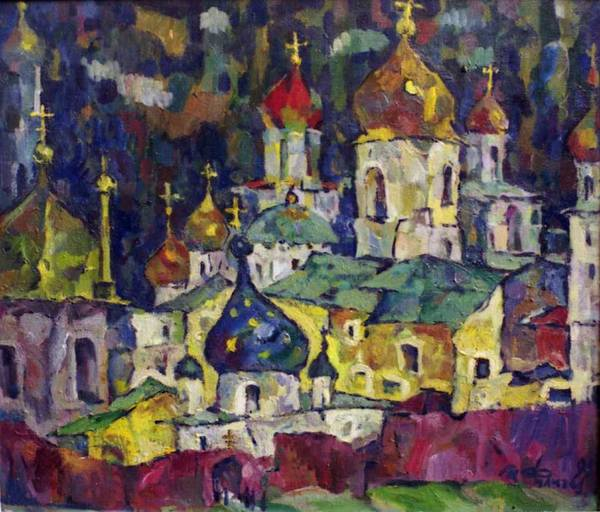 Russian Orthodox Church Painting - Golden Domes by Ivan Filichev