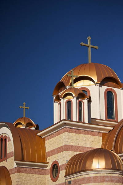 Photograph - Golden Domes Of St. Sava Church by Amazing Jules