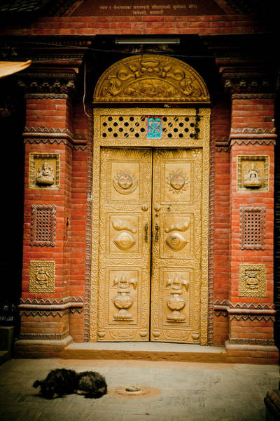 Photograph - Golden Door In Kathamndu by Raimond Klavins