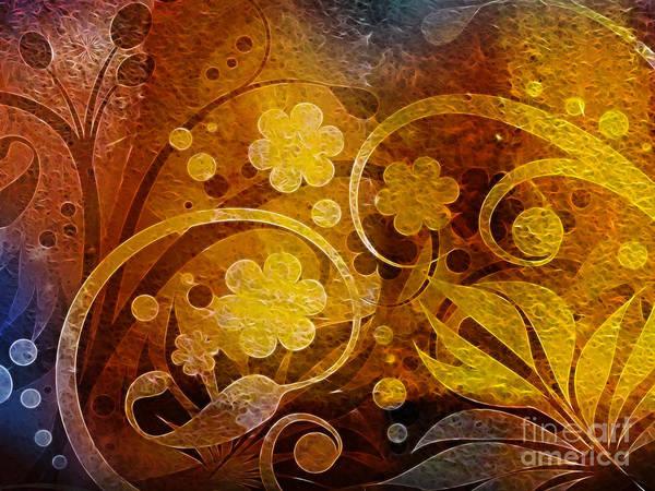 Digital Art - Golden Dreams by Lutz Baar