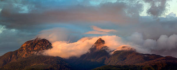 Metro Vancouver Wall Art - Photograph - Golden Ears Sunset by Michael Russell