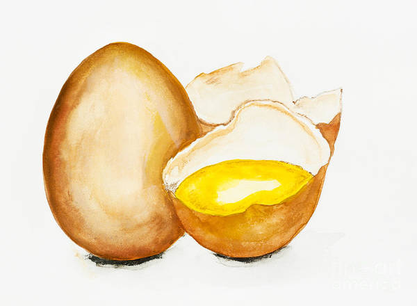 Protein Painting - Golden Egg Conceopt by Irina Gromovaja