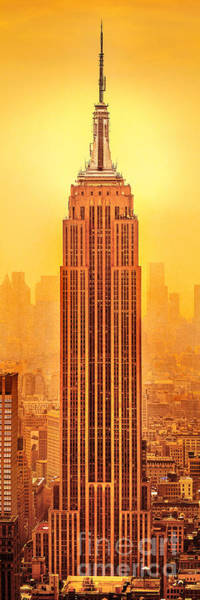 Empire State Building Photograph - Golden Empire State by Az Jackson