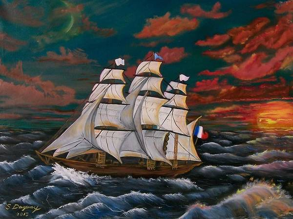 Painting - Golden Era Of Sail by Sharon Duguay