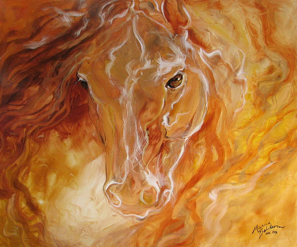 Painting - Golden Essence Equine by Marcia Baldwin