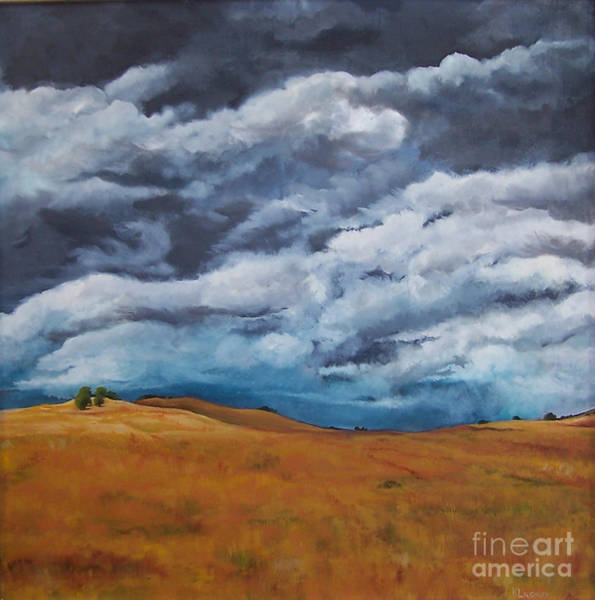 Painting - Golden Fields by Kathy Laughlin