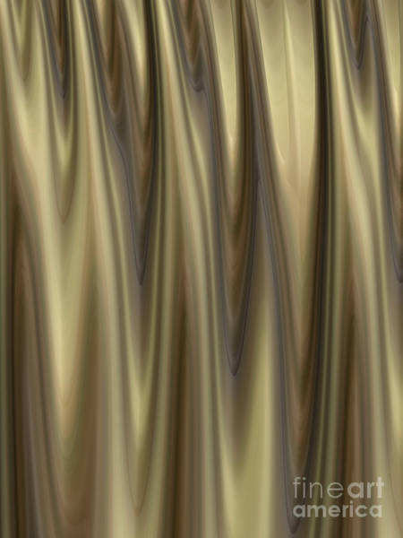 Wall Art - Digital Art - Golden Folds by John Edwards
