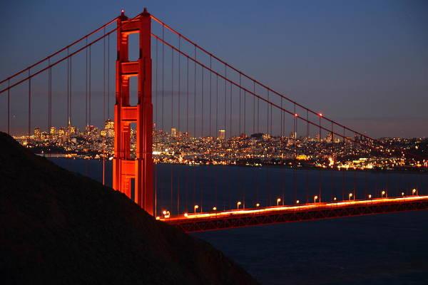 Garrett County Wall Art - Photograph - Golden Gate At Dusk by Garrett Nyland
