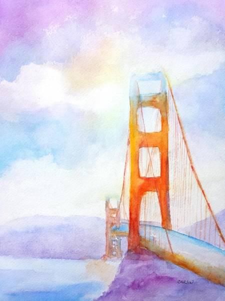 Golden Gate Painting - Golden Gate Bridge 2 by Carlin Blahnik CarlinArtWatercolor