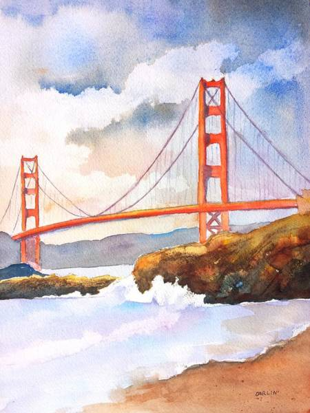 Area Painting - Golden Gate Bridge 4 by Carlin Blahnik CarlinArtWatercolor