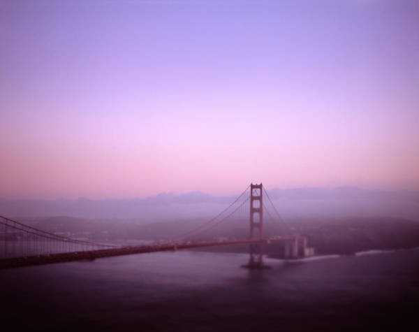 Wall Art - Photograph - Golden Gate Bridge At Sunset by Dave Shafer