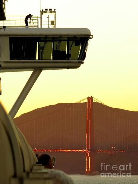 Golden Princess Photograph - Golden Gate Bridge At Sunset by Phyllis Kaltenbach