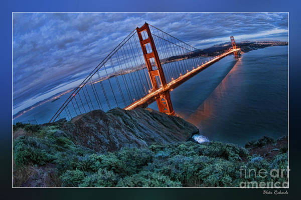 Photograph - Golden Gate Bridge Blue Clouds by Blake Richards