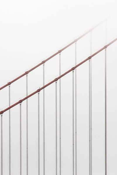 Out Of Business Wall Art - Photograph - Golden Gate Bridge Cable Fog by Chuckschugphotography