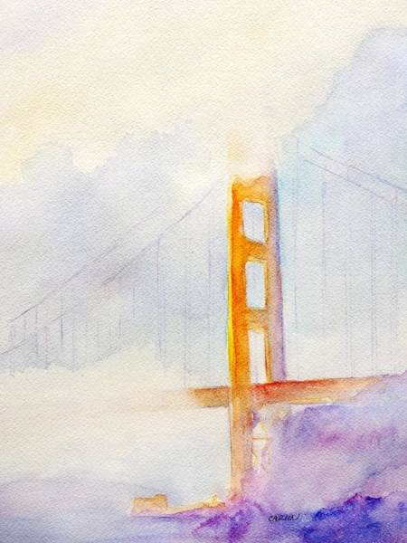 Area Painting - Golden Gate Bridge by Carlin Blahnik CarlinArtWatercolor