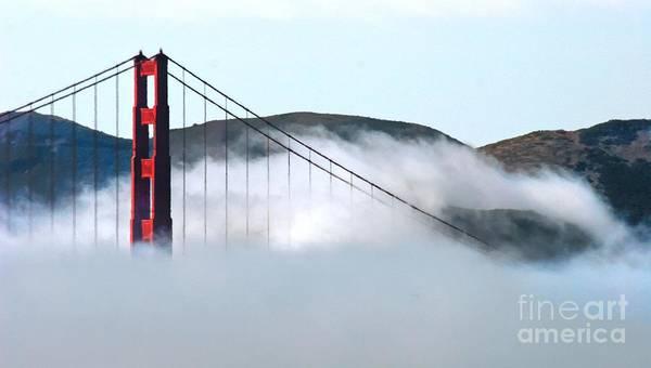 Photograph - Golden Gate Bridge Cloud Cover by Tap On Photo