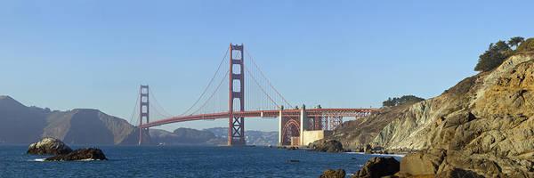 Us West Coast Photograph - Golden Gate Bridge Panoramic by Melanie Viola