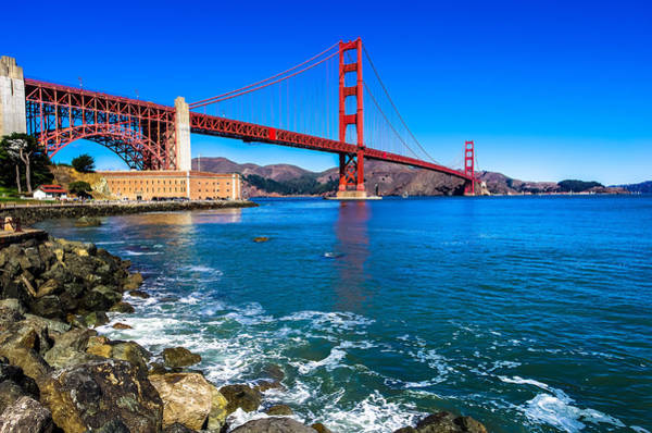 Golden Gate Bridge San Francisco Bay Art Print