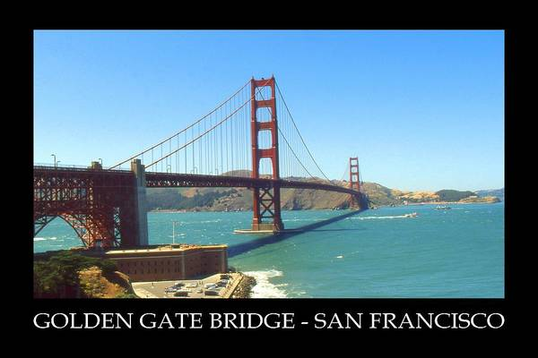 Photograph - San Francisco Poster - Golden Gate Bridge by Peter Potter
