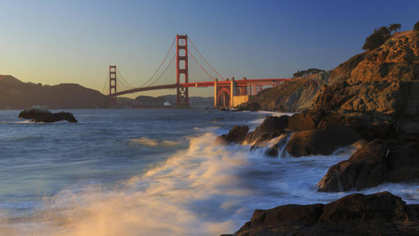 Photograph - Golden Gate Bridge Sunset Study 4 by Scott Campbell