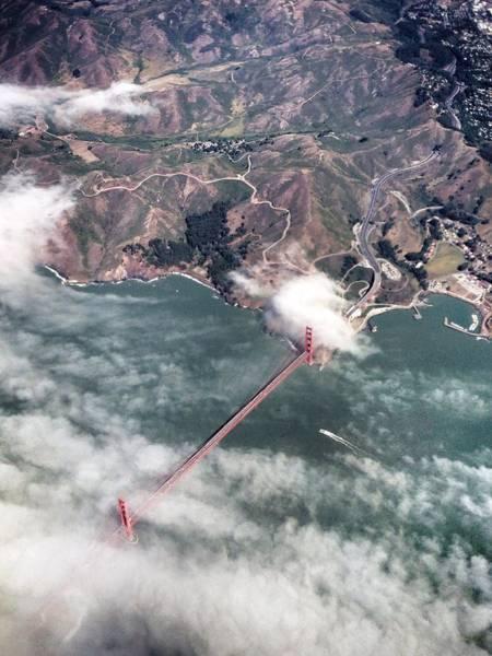 Wall Art - Photograph - Golden Gate From Above by Angel Jiménez De Luis