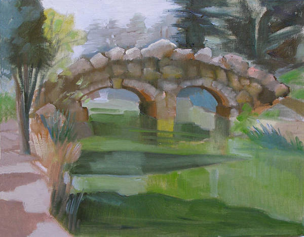 Painting - Golden Gate Park Footbridge Stowe Lake by Suzanne Cerny
