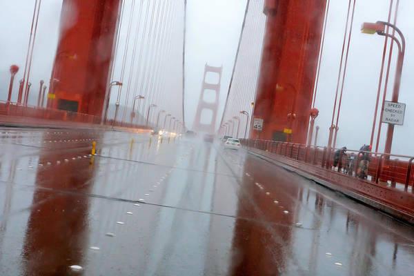 Furon Photograph - Golden Gate Rain by Daniel Furon