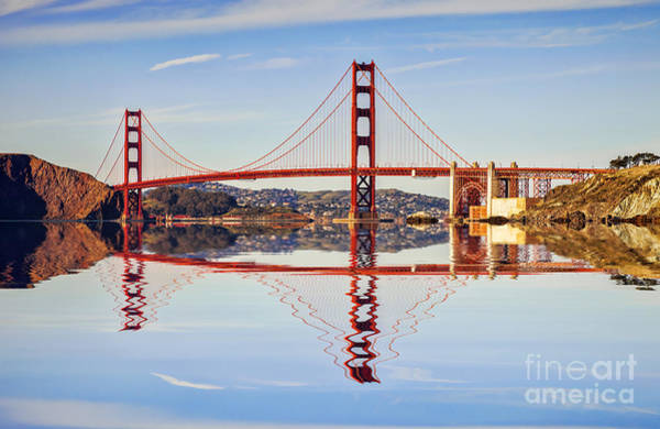 Wall Art - Photograph - Golden Gate Reflection by Colin and Linda McKie