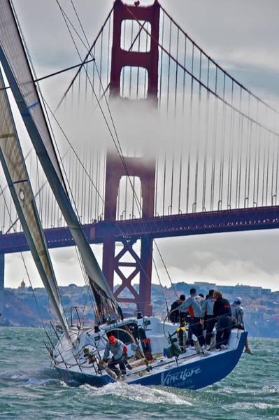 Photograph - Golden Gate Sailing by Steven Lapkin