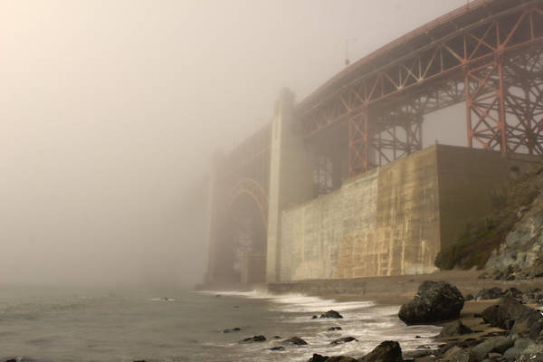 Golden Gate Superfog Art Print