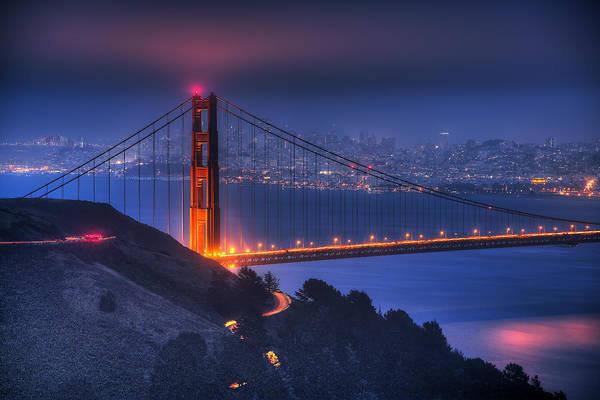 Wall Art - Photograph - Golden Gate Twilight by Shawn Everhart