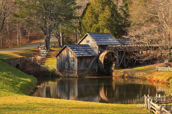 Photograph - Golden Glow At Mabry Mill by Adam Jewell