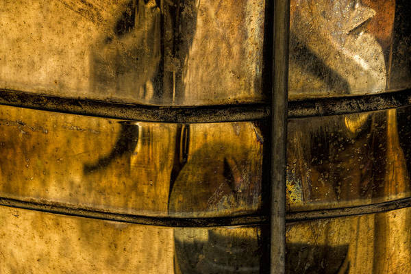 Photograph - Golden Glow Reflections On A Copper Container by Randall Nyhof