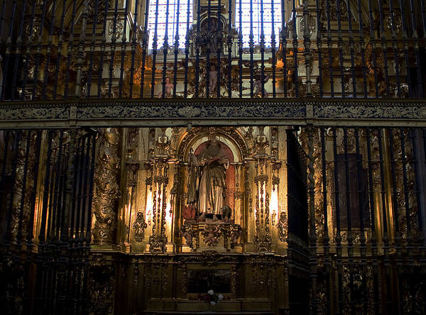 Photograph - Golden Grills Of Segovia Cathedral by Lorraine Devon Wilke