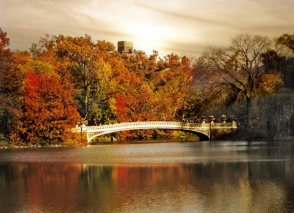 Bow River Wall Art - Photograph - Golden Hour At Bow Bridge by Jessica Jenney