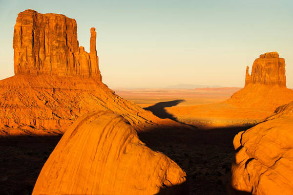 Photograph - Golden Hour At Monument Valley - Arizona And Utah Border by Gregory Ballos