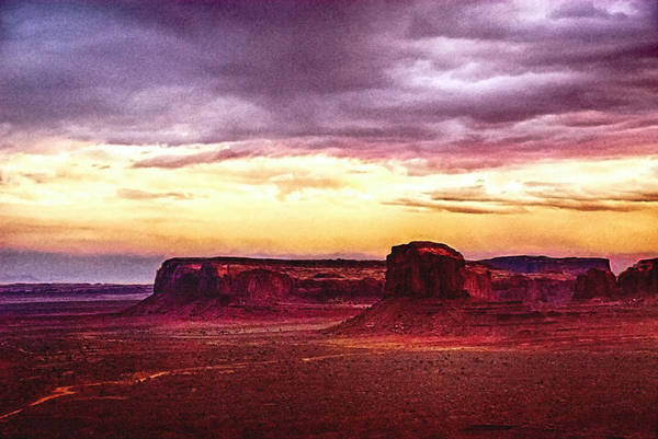 Painting - Golden Hour Five Am In Monument Valley by Bob and Nadine Johnston